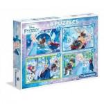 Clementoni-07614 4 Jigsaw Puzzles - Frozen