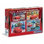 Clementoni-07703 4 Progressive Jigsaw Puzzles - Cars