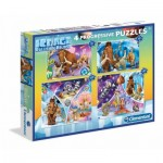 Clementoni-07713 4 Progressive Jigsaw Puzzles - Ice Age