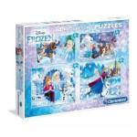 Clementoni-07723 4 Jigsaw Puzzles - Frozen
