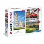 Clementoni-08011 3 Puzzles - Italy
