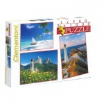 Clementoni-08104 3D Jigsaw Puzzle - Landscapes