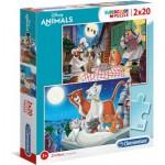 2 Puzzles - Disney Animals