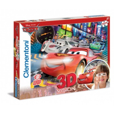 Clementoni-20044 Jigsaw Puzzle - 104 Pieces - 3D - Cars 2 : Internationale Porto Corsa