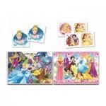 Puzzle  Clementoni-20208 Superkit Disney Princess - 2x30 Pieces + Memo + Domino