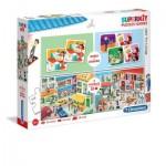 Puzzle  Clementoni-20239 Superkit Jobs - 2x30 Pieces + Memo + Domino