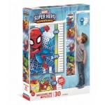 Clementoni-20337 XXL Pieces - - Measure Me Puzzle - Super Heroes