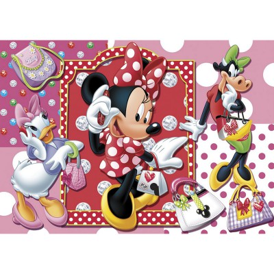 Clementoni-20402 Jigsaw Puzzle - 104 Pieces : Minnie goes Shopping