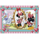 Clementoni-20403 Jigsaw Puzzle - 104 Pieces : Minnie puts on Make-up