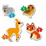 Clementoni-20814 My First Puzzle - Forest Animals (4 Puzzles)