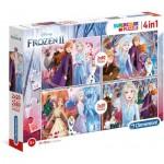 Clementoni-21307 4 Puzzles - Frozen  2 (2x20, 2x60 Pieces)