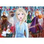Clementoni-21411 Frozen 2 - 4 Puzzles (20/60/100/180 Pieces)