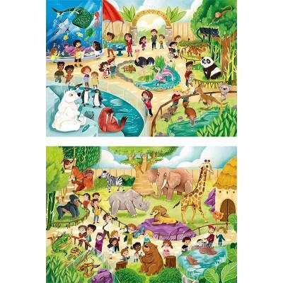Puzzle Clementoni-21603 Zoo (2 x 60 Pieces)