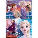 Clementoni-21609 2 Puzzles - Frozen 2