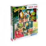 Puzzle  Clementoni-21614 Gigantosaurus - 2x60 Pieces