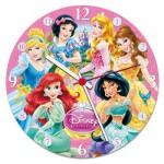 Clementoni-23020 Puzzle Clock - Disney Princess