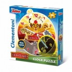 Clementoni-23027 Clock Puzzle - The Lion Guard