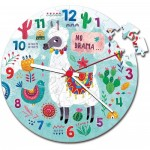 Clementoni-23036 Puzzle Clock - Llama