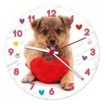 Clementoni-23039 Puzzle Clock - Puppy