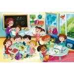 Puzzle  Clementoni-23732 XXL Pieces - At School