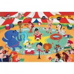 Puzzle  Clementoni-23733 XXL Pieces - At the Circus
