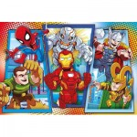 Puzzle  Clementoni-23746 XXL Pieces - Marvel Super Hero Avengers