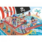 Puzzle  Clementoni-24209 XXL Pieces - Pirates