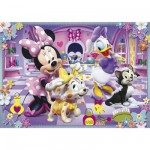 Clementoni-24433 Jigsaw Puzzle - 24 Pieces - Maxi : Minnie and her Pets
