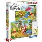 Clementoni-24516 2 Puzzles - Winnie the Pooh