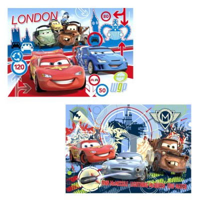 Clementoni-24699 Jigsaw Puzzle - 2 x 20 Pieces - Cars 2 : Race Around the World