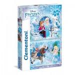 Clementoni-24745 2 Jigsaw Puzzles - Frozen
