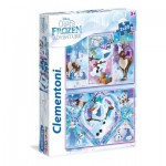 Clementoni-24752 2 Jigsaw Puzzles - Frozen
