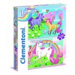 Clementoni-24754 2 Jigsaw Puzzles - I Believe in Unicorns