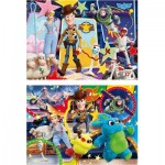 Clementoni-24761 2 Puzzles - Toy Story 4