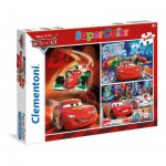 Clementoni-25197 3 Jigsaw Puzzles - Cars