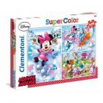 Clementoni-25198 3 Jigsaw Puzzles - Minnie