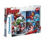Clementoni-25203 3 Jigsaw Puzzles - Avengers