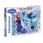 Clementoni-25204 3 Jigsaw Puzzles - Frozen