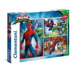Clementoni-25217 3 Jigsaw Puzzles - Spider-Man
