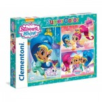 Clementoni-25218 3 Jigsaw Puzzles - Shimmer & Shine