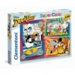 Clementoni-25226 3 Puzzles - Duck Tales