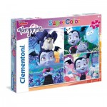 Clementoni-25229 3 Puzzles - Vampirina