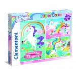 Clementoni-25231 3 Jigsaw Puzzles - I Believe in Unicorns