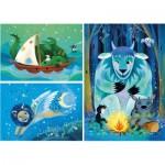 Puzzle  Clementoni-25245 Fantastic Friends - 3x48 Pieces
