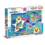 Puzzle  Clementoni-25261 Baby Shark (3x48 Pieces)