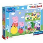 Clementoni-25263 3 Jigsaw Puzzles - Peppa Pig