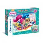 Clementoni-25451 Floor Puzzle - Shimmer & Shine