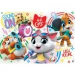 Puzzle  Clementoni-25466 XXL Pieces - 44 Cats