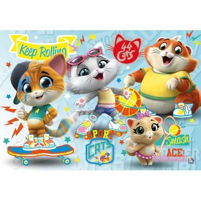 Puzzle Clementoni-26063 44 Cats