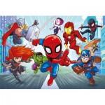 Puzzle  Clementoni-26098 Marvel Superhero Supercolor (Double Face)